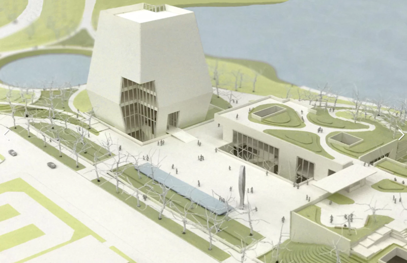 3-D model of Obama Presidential Center unveiled in Chicago