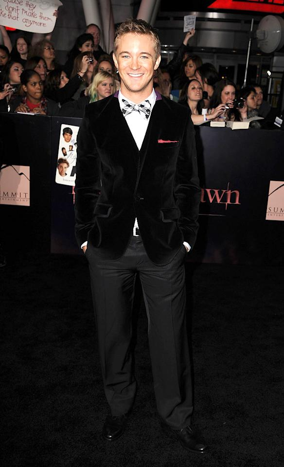 "<a href=""http://movies.yahoo.com/movie/contributor/1800019366"">Michael Welch</a> at the Los Angeles premiere of <a href=""http://movies.yahoo.com/movie/1810158314/info"">The Twilight Saga: Breaking Dawn - Part 1</a> on November 14, 2011."