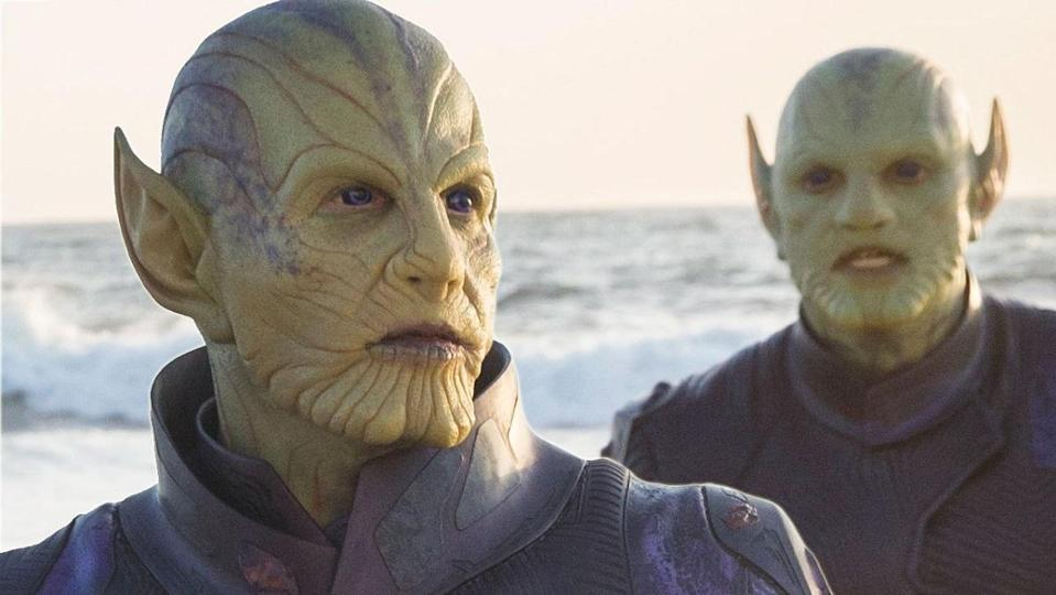 Skrulls standing by the ocean