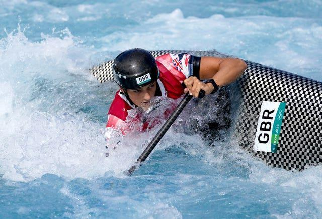 Mallory Franklin in action at the Kasai Canoe Slalom Centre