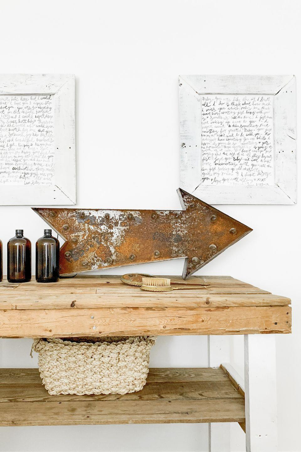 """<p>Turn a treasured love letter into a work of art that you can display year-round—but especially on Valentine's Day. An arrow that nods to Cupid is just a plus.</p><p><strong>Get the tutorial at <a href=""""https://welivedhappilyeverafter.com/diy-boot-camp-love-letter-artwork/"""" rel=""""nofollow noopener"""" target=""""_blank"""" data-ylk=""""slk:We Lived Happily Ever After"""" class=""""link rapid-noclick-resp"""">We Lived Happily Ever After</a>.</strong></p><p><strong><strong><a class=""""link rapid-noclick-resp"""" href=""""https://www.amazon.com/boards-canvas/b?ie=UTF8&node=12896211&tag=syn-yahoo-20&ascsubtag=%5Bartid%7C10050.g.2971%5Bsrc%7Cyahoo-us"""" rel=""""nofollow noopener"""" target=""""_blank"""" data-ylk=""""slk:SHOP CANVASES"""">SHOP CANVASES</a></strong><br></strong></p>"""