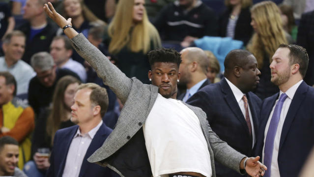Jimmy Butler can't come back soon enough for the Timberwolves. (AP)
