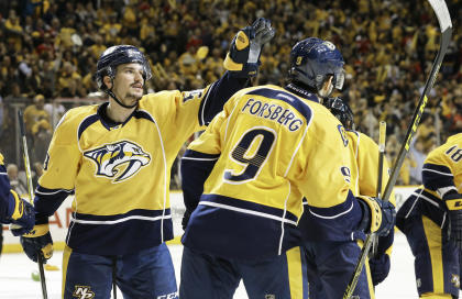 Roman Josi has stepped up in Nashville, taking some of the load off Shea Weber. (AP)