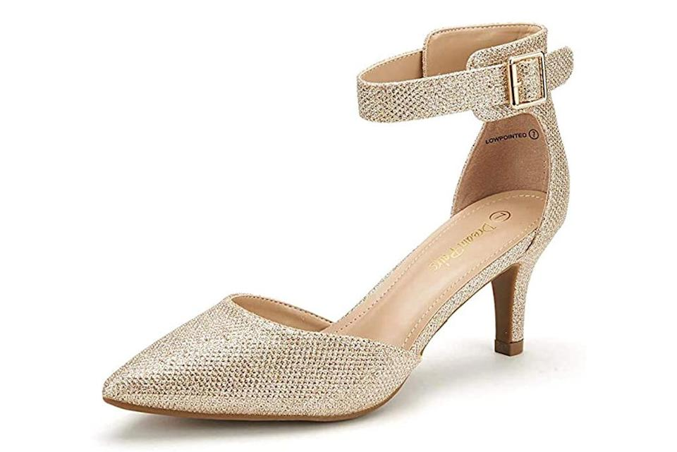 Dream Pairs, gold pumps