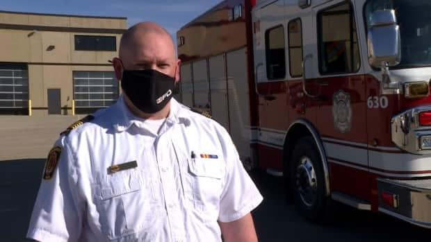 '[The equipment] allows us to isolate the victim from the pile of grain, and then it gives them an anchor source, so there's handles on the inside that they can hang on to,' Olds Fire Chief Justin Andrew said.