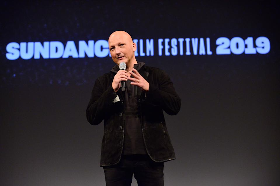 PARK CITY, UT - JANUARY 25:  Director Dan Reed speaks onstage during the 'Leaving Neverland' Premiere during the 2019 Sundance Film Festival at Egyptian Theatre on January 25, 2019 in Park City, Utah.  (Photo by Jerod Harris/Getty Images)