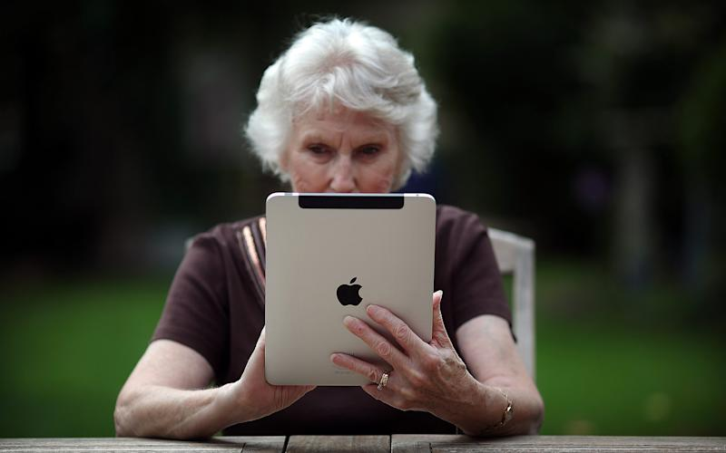 Over-65s are getting better at using computers  - Simon Dawson/Bloomberg