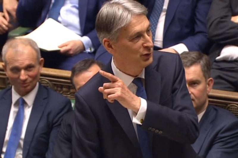 Speech: Philip Hammond making his Budget statement on Thursday (PA)