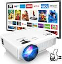 <p>You can use this <span>DR. J Professional HI-04 Mini Projector with 100-inch Projector Screen</span> ($99) indoors and outdoors. It is compatible with HDMI streaming sticks, video game consoles, laptops, USBs, and more! You can also connect your audio system to get a better sound quality.</p>