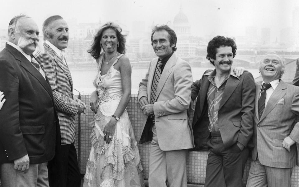 Cannon and Ball with their ITV peers, in 1978 - Getty