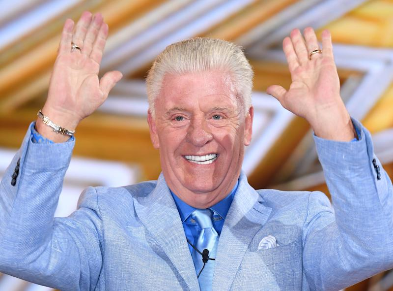 BOREHAMWOOD, ENGLAND - AUGUST 25: Derek Acorah is evicted from the Celebrity Big Brother house at Elstree Studios on August 25, 2017 in Borehamwood, England. (Photo by Karwai Tang/WireImage)