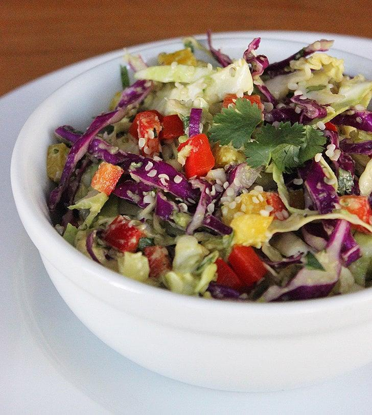 "<p>This crunchy cabbage and hemp salad tastes fresh and nutty.</p> <p><strong>Calories:</strong> 381<br> <strong>Protein:</strong> 6.6 grams</p> <p><strong>Get the recipe:</strong> <a href=""https://www.popsugar.com/fitness/Cabbage-Detox-Salad-33429892"" class=""link rapid-noclick-resp"" rel=""nofollow noopener"" target=""_blank"" data-ylk=""slk:cabbage hemp salad"">cabbage hemp salad</a></p>"