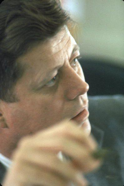 <p>President Kennedy in the Oval Office.</p>