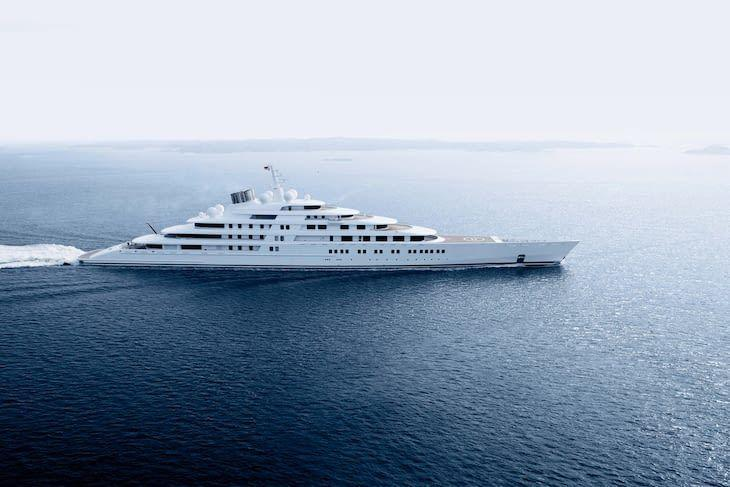 <p>The 590-foot <em>Azzam</em> is considered the longest yacht in the world and is reportedly owned by the royal family of Abu Dhabi. Built in 2013, this Larsson yacht made yachting history for not only its size, but its ability to reach top speeds of more than 30 knots. </p><p>French designer Christophe Leoni spearheaded the interior design of this boat that accommodates 36 guests and 60 crew members. </p>