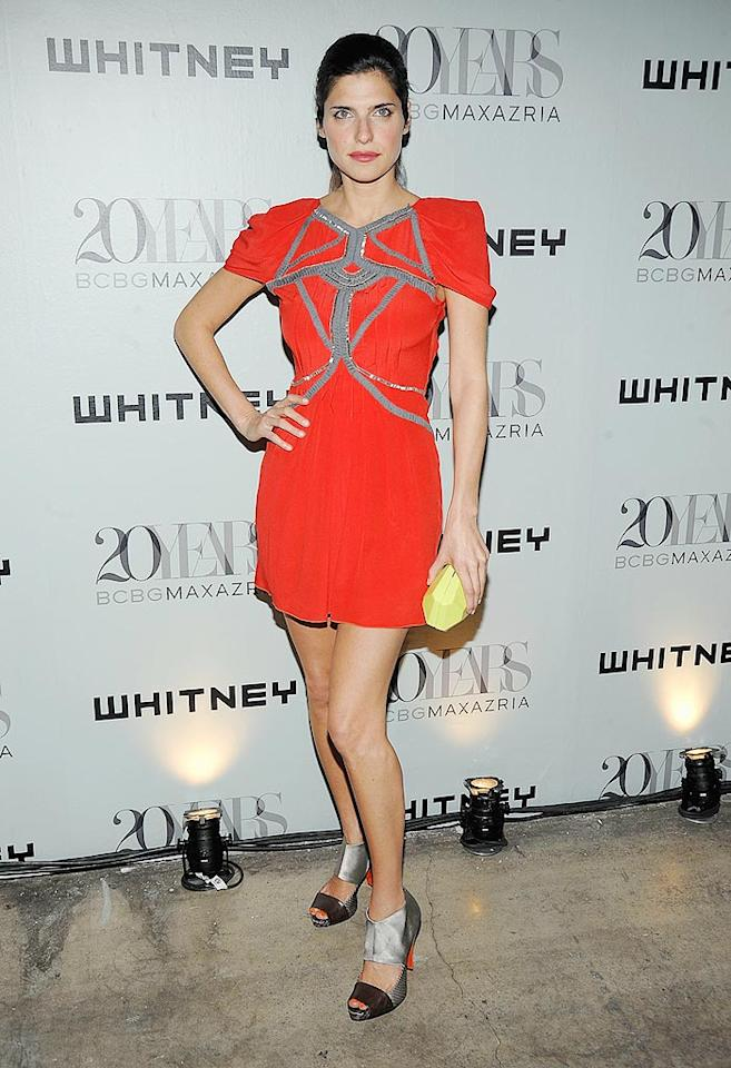"""Lake Bell perfectly paired her futuristic BCBG frock with out-of-this-world sandals. Jamie McCarthy/<a href=""""http://www.wireimage.com"""" target=""""new"""">WireImage.com</a> - June 16, 2009"""
