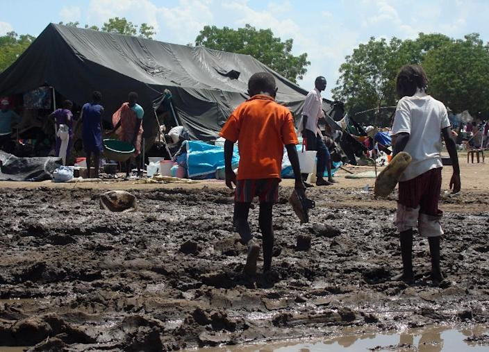 Fighting raged for four days in the South Sudanese capital Juba, leaving hundreds dead and forcing 40,000 to flee their homes (AFP Photo/Beatrice Mategwa/UNMISS)