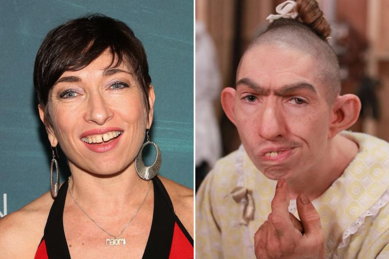 Naomi Grossman's transformation into recurring character Pepper is one of the series' most notable. Photos courtesy of Getty Images and IMDB.