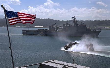 US Navy handout photo of the USS Tortuga in Subic Bay