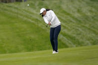 Megha Ganne hits from the seventh fairway during the second round of the U.S. Women's Open golf tournament at The Olympic Club, Friday, June 4, 2021, in San Francisco. (AP Photo/Jeff Chiu)