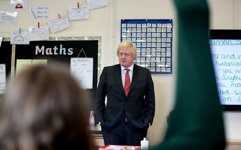 Overhauling the curriculum is a key part of Boris Johnson's plan to get schools open - PA