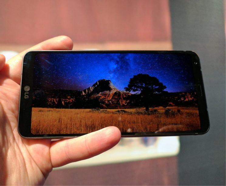 LG G6 showing HDR video.