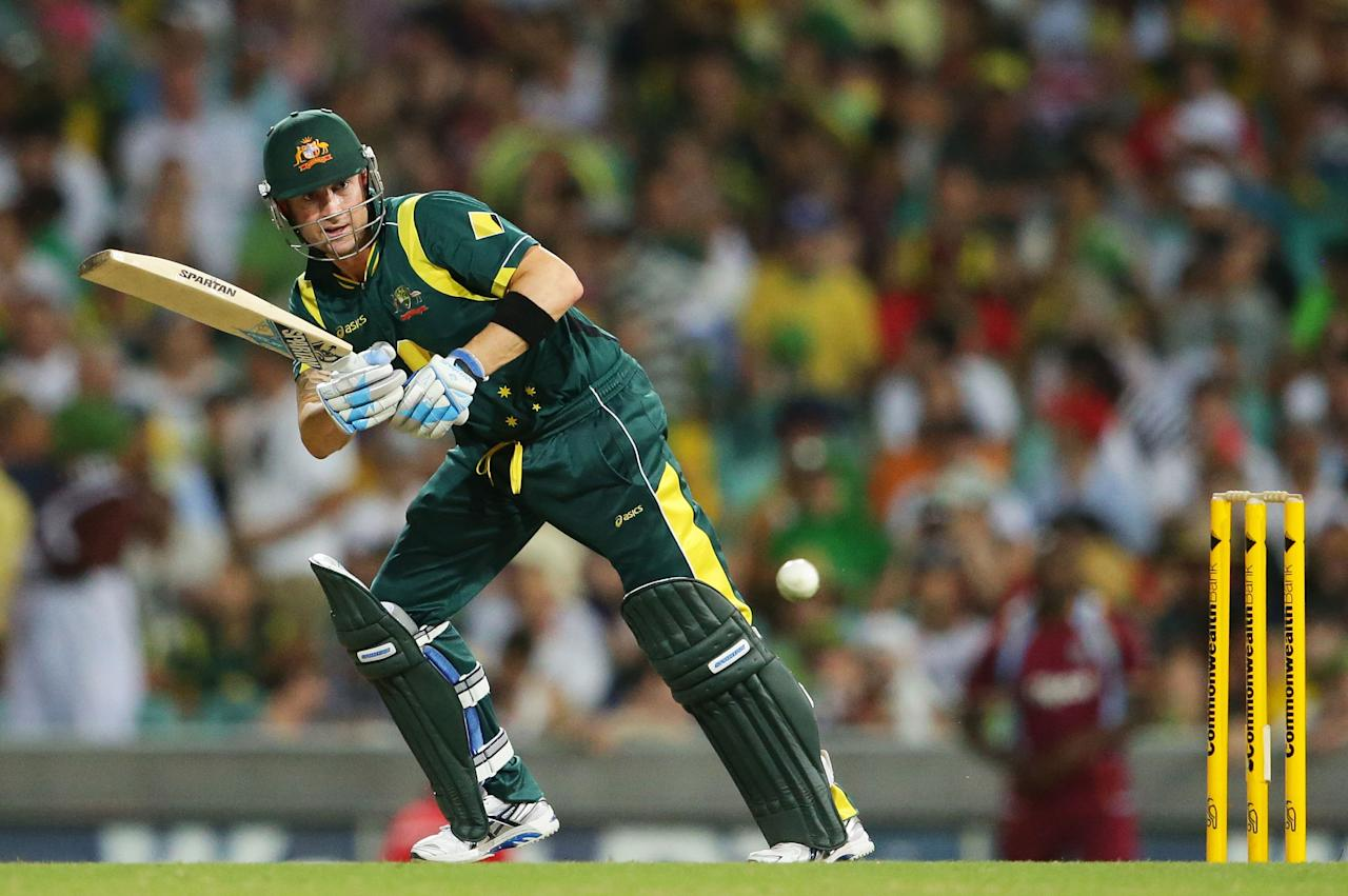 SYDNEY, AUSTRALIA - FEBRUARY 08:  Michael Clarke of Australia plays a leg side shot during game four of the Commonwealth Bank One Day International Series between Australia and the West Indies at Sydney Cricket Ground on February 8, 2013 in Sydney, Australia.  (Photo by Matt King/Getty Images)