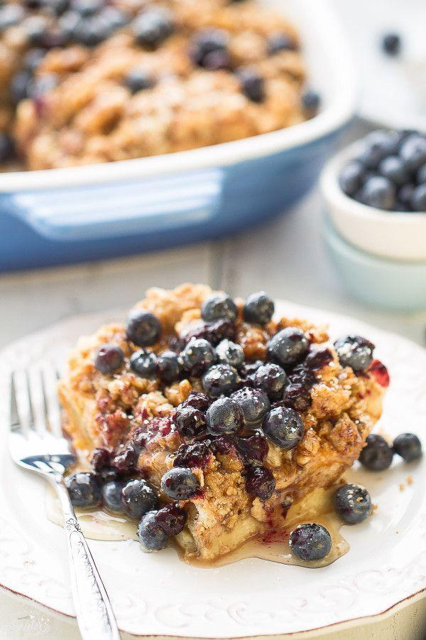 """<p>You can make this the night before so all you have to do in the morning is bake.</p><p>Get the recipe from <a href=""""http://lifemadesweeter.com/2015/05/overnight-blueberry-cream-cheese-french-toast-bake/"""" rel=""""nofollow noopener"""" target=""""_blank"""" data-ylk=""""slk:Life Made Sweeter"""" class=""""link rapid-noclick-resp"""">Life Made Sweeter</a>.</p>"""
