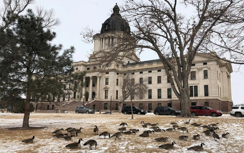FILE PHOTO: The South Dakota state capitol building in Pierre