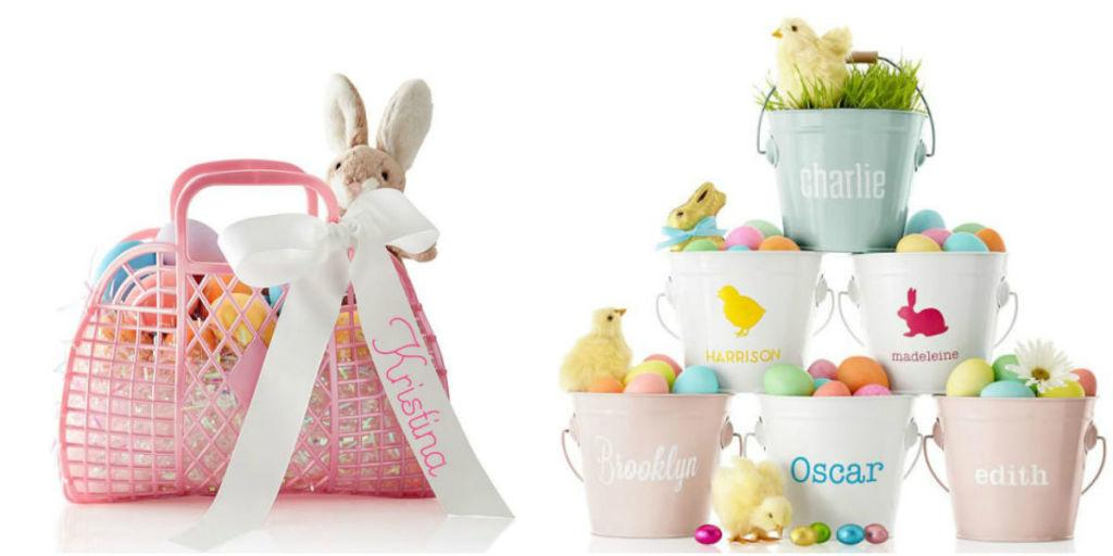 """<p>Upgrade your standard <a rel=""""nofollow"""" href=""""http://www.housebeautiful.com/entertaining/holidays-celebrations/g4187/easter-egg-hunt/"""">egg hunt</a> fare with a customized container. These <a rel=""""nofollow"""" href=""""http://www.housebeautiful.com/entertaining/holidays-celebrations/g4242/easter-basket-ideas"""">Easter basket ideas</a> designate both finders' loot and the Easter bunny's gifts with a dose of personalization. </p>"""