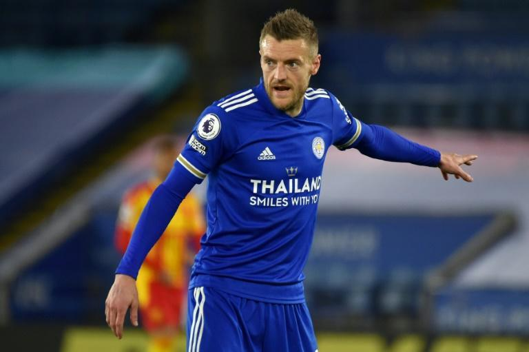 Leicester striker Jamie Vardy ended his goal drought against West Brom