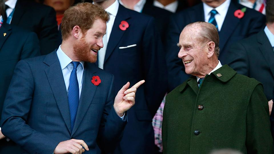 Prince Harry arrived in the UK for the first time since he and Meghan Markle stepped down as senior royals as he prepares for his grandfather's funeral. Photo: Getty