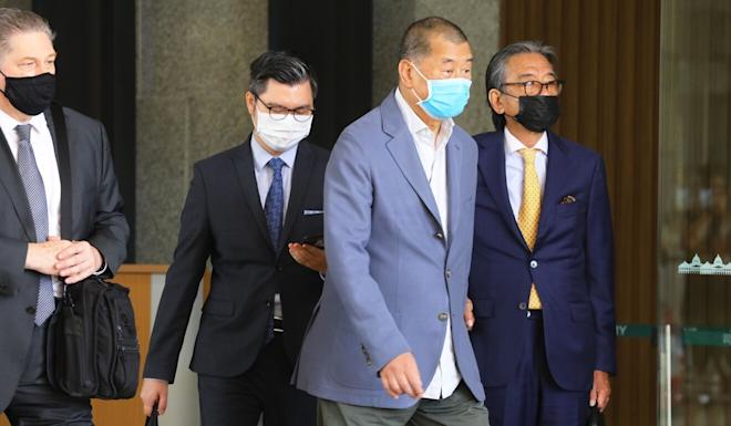 Hong Kong media tycoon Jimmy Lai leaves West Kowloon Court after Wednesday's hearing. Photo: Dickson Lee