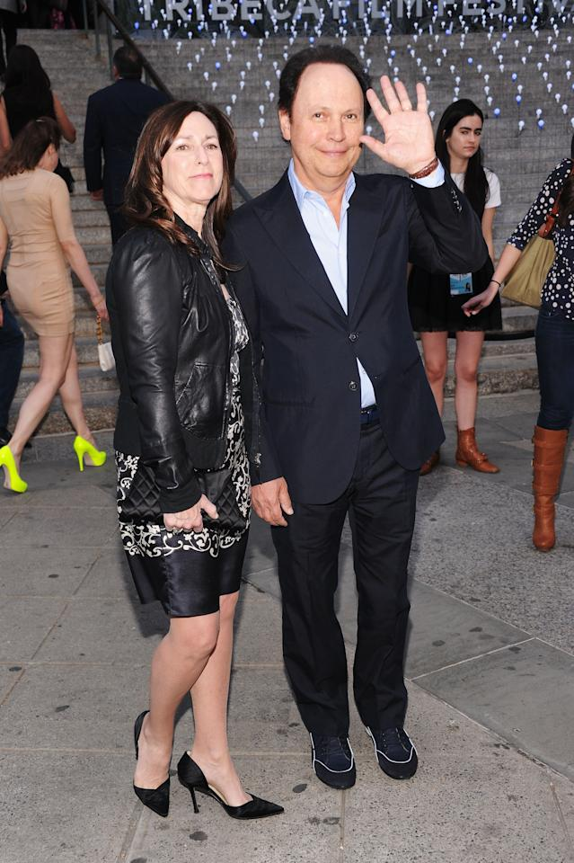 NEW YORK, NY - APRIL 17:  Janice Crystal and actor Billy Crystal attend the 2012 Tribeca Film Festival at the State Supreme Courthouse on April 17, 2012 in New York City.  (Photo by Jamie McCarthy/Getty Images)