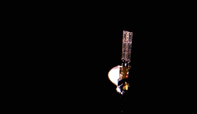 The probe is about 24 million km from Earth. Photo: Xinhua