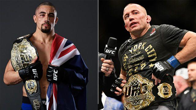 Whittaker is hoping to fulfil a dream by fighting GSP. Pic: Getty