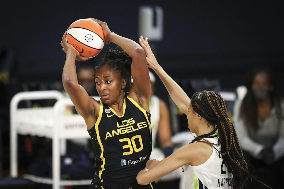 """<p><strong>Sport: </strong>Basketball</p><p>Since joining the LA Sparks as the number one draft pick in 2012, Ogwumike has become one of the most respected players in the WNBA. The Stanford alum became both MVP and a WNBA champion during her 2016 season. She also helped Team USA win gold in both the 2014 and 2018 FIBA World Cups. Plus, she serves as the president of the league's union, Women's National Basketball Players Association, during a time when the WNBA is increasingly visible in the media <a href=""""https://www.washingtonpost.com/outlook/2020/08/29/nba-wnba-racial-injustice/"""" rel=""""nofollow noopener"""" target=""""_blank"""" data-ylk=""""slk:through their activism"""" class=""""link rapid-noclick-resp"""">through their activism</a> and <a href=""""https://theundefeated.com/features/nneka-oguwmike-los-angeles-sparks-president-of-wnba-players-association/"""" rel=""""nofollow noopener"""" target=""""_blank"""" data-ylk=""""slk:demand for pay equity"""" class=""""link rapid-noclick-resp"""">demand for pay equity</a>.</p>"""