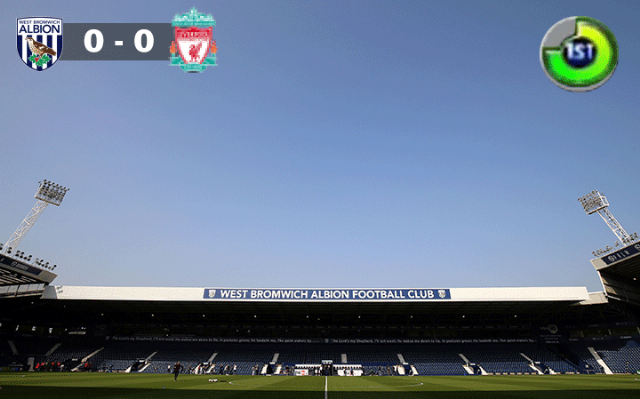 west brom vs liverpool kickoff