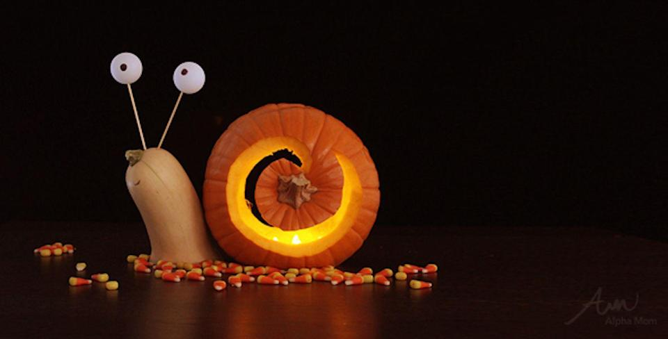 "<p>This creepy crawler is a jack-o'-lantern everyone will love! </p><p><strong>Get the tutorial at <a href=""https://alphamom.com/family-fun/holidays/snail-3d-jack-o-lantern/"" rel=""nofollow noopener"" target=""_blank"" data-ylk=""slk:Alpha Mom"" class=""link rapid-noclick-resp"">Alpha Mom</a>. </strong></p>"