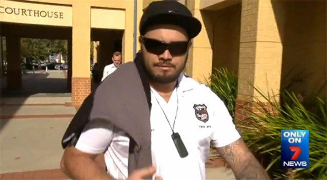 Joshua Rona, who was fined for savagely beating his dog, lashed out at a 7 News cameraman. Photo: 7 News