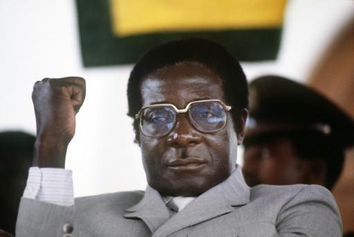Mugabe, pictured in July 1984 at the height of his 37 years in power