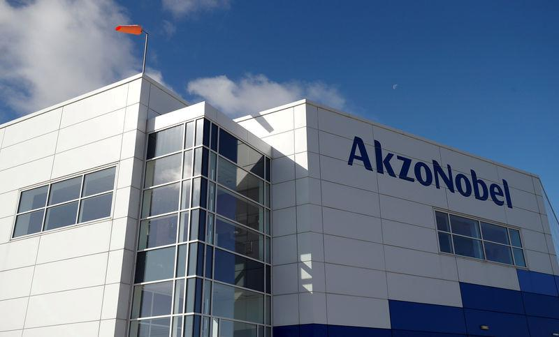 FILE PHOTO: General view of the outside of AkzoNobel's new paint factory in Ashington, Britain