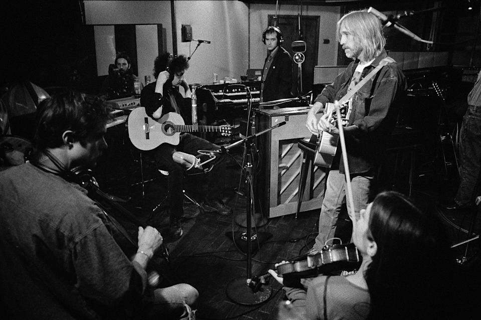 Tom Petty and the Heartbreakers in the studio during the recording of 'She's the One.' - Credit: Robert Sebree