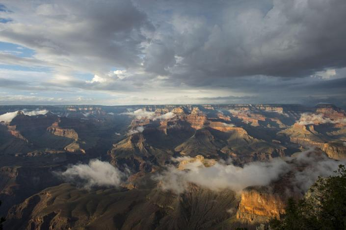 <p>The aerial view from Yavapai Point at the Grand Canyon National Park, Arizona. // August 7, 2015</p>