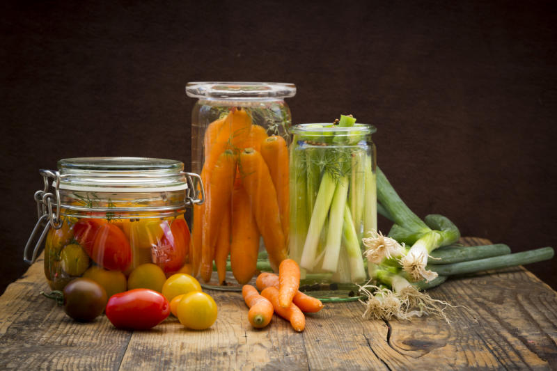 Pictured: Pickled carrots, tomatos and shallots. Image: Getty