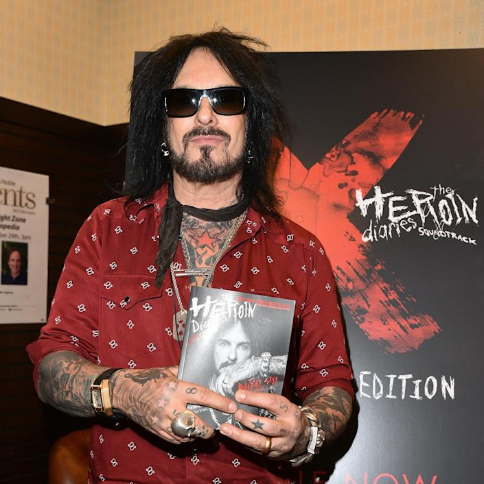 Nikki Sixx at a book signing for 'The Heroin Diaries' 10th anniversary edition in 2017. (Photo: Getty Images)