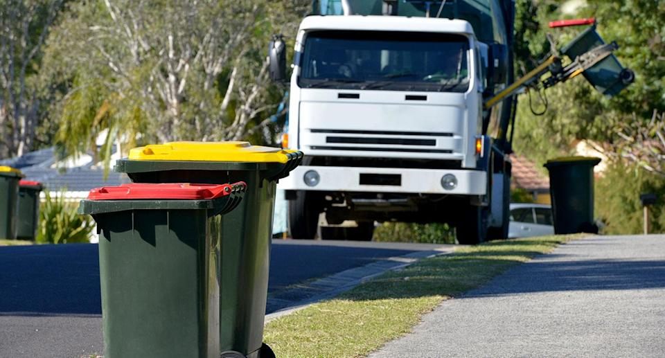 Melbourne households could find their rubbish bin collection rates cut back by 50 per cent. Image: Getty