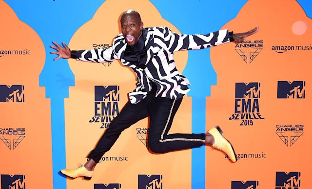 Terry Crews attending the MTV Europe Music Awards 2019, held at the FIBES Conference & Exhibition Centre of Seville, Spain. (PA)