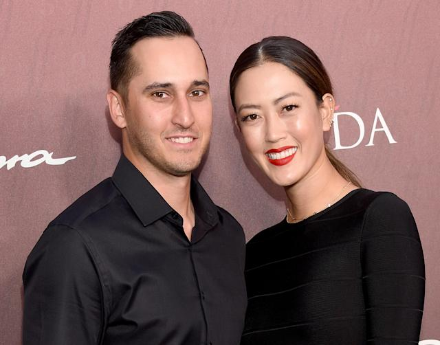 "<a class=""link rapid-noclick-resp"" href=""/golf/lpga/players/Michelle+Wie/4963"" data-ylk=""slk:Michelle Wie"">Michelle Wie</a> and Jonnie West were married over the weekend in Beverly Hills. (Photo by Gregg DeGuire/FilmMagic)"