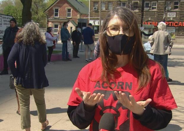 Maryanna Lewyckyj, a member of Toronto ACORN, says: 'We want to see a true rent freeze.'