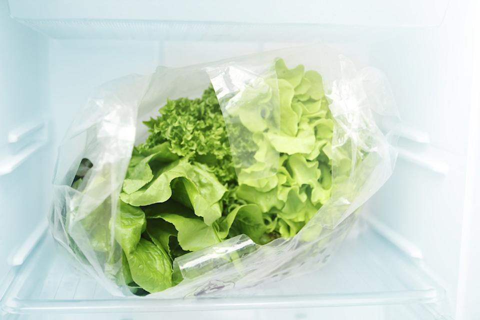 bag of lettuce